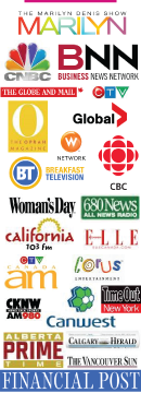 Logos of media appearances